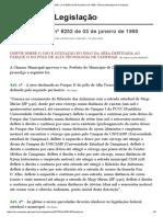 Lei 8252_95 _ Lei Nº 8252 de 03 de Janeiro de 1995, Câmara Municipal de Campinas (Parque II)