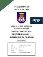 Case Write-Up - Obstetrics - Gestational Diabetes Mellitus
