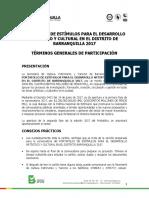 Terminos Generales de Participacion Artes Plasticas
