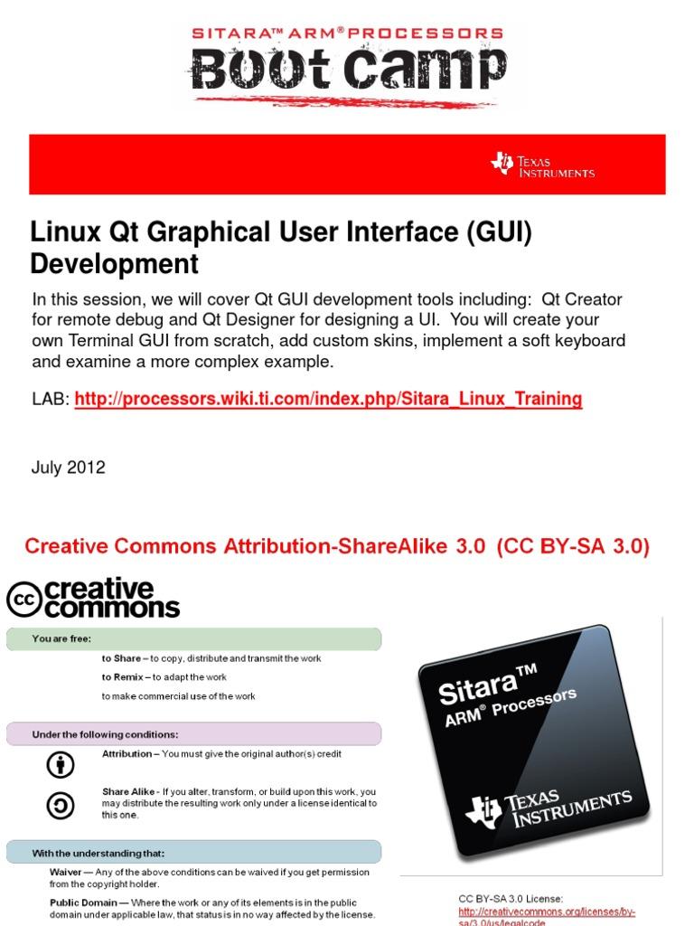 Sitara Boot Camp 06 Linux Gui Development   Widget (Gui)   Linux