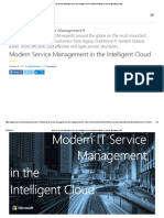 Microsoft Modern IT Service Management in the Intelligent Cloud