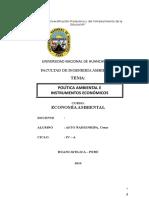 Politica Ambiental e Instrumentos Economicos Monografico