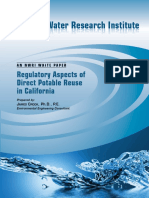 Regulatory Aspects of Direct Potable Reuse in California