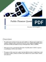 Public Finance Questionnaire-results