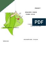 Proiect Did.ed. Civică Cls.a III-A