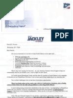 Jackley Fundraising Letter