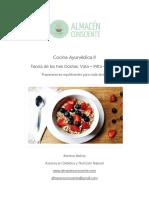 Cocina Ayurvédica II