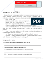 Texto - Sérgio e a Formiga