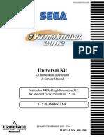 Virtua Striker 2002 [Kit Installation & Service] [English]