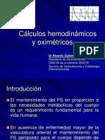 Cc3a1lculos Hemodinc3a1micos y Oximetricos