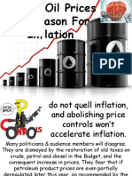 Higher Oil Prices No Reason for Inflation