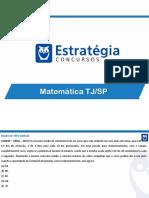 Revisão TJSP - Matemática