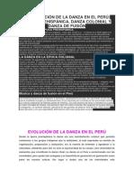 La Evolución de La Danza en El Perú