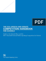 The Speech and Debate Competition Handbook for Schools 2014