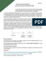 Características de las reacciones de adición electrofílica.