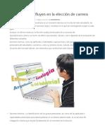 Factores Que Influyen en La Elección de Una Carrera Universitaria.