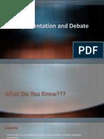 Argumentation and Debate