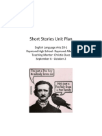 short stories unit plan 20-1
