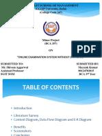 Ppt on Online Examination