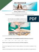 Diccionario de Nombres Angélicos de La _a a La z