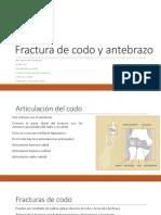 Fractura de Codo y Antebrazo Bn