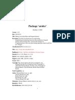 R arules package