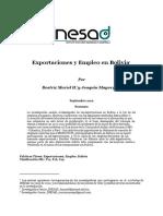 63. Mayorga_Exportaciones Empleo Bolivia