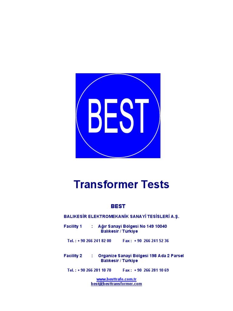 Best Transformer Test Procedures En Alternating Current Eletrical Materials Open And Short Circuit On