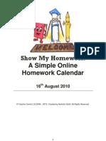 Show My Homework Calendar White Paper
