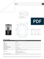 Panasonic Industrial  Alkaline Battery - Data Sheet