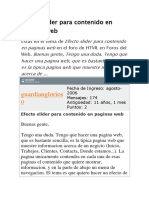 Efecto Slider Para Contenido en Paginas Web