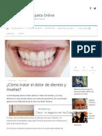 ¿Cómo tratar el dolor de dientes y muelas?
