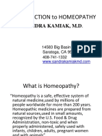 Introduction to Homeopathy
