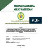 Informe de Fito Agricola