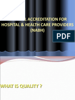 Natonal Accreditation for Hospital & Health Care Providers (Nabh)