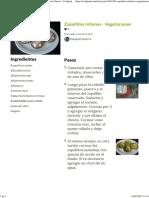 Zapallitos Rellenos - Vegetarianos Receta de Ezequiel Guerra - Cookpad