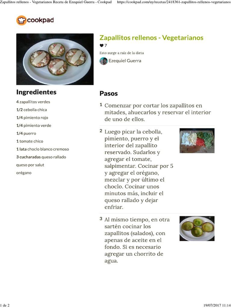receta de zapallitos rellenos veganos