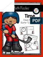 Time Puzzles With Word So Clock Half Past Quarter to Quarterpast