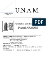 Práctica No. 6 - Lab. Transformadores y Motores de Inducción.