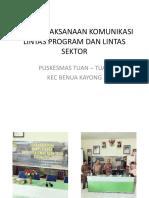 Bukti Pelaksanaan Komunikasi Lintas Program Dan Lintas Sektor