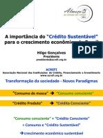 A Importância Do CREDITO SUSTENTAVEL Para o Crescimento Econômico Do Brasil