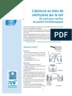 Fiche Bleu de Methylene Sur Lait