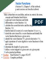 Vector Functions 9-1