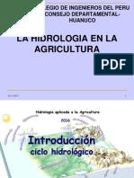 La Hidrologia en La Agricultura