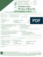 MCMI2 - Hoja de Respuesta