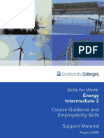 Energy SfW Course Guidance and Employability Skills (August 2008)