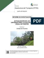 (PITRA). Actualización de Los Criterios Para La Evaluación Visual de Puentes