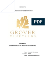 Pestel Analysis for Grover Vineyards