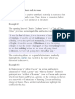 Examples of Antithesis in Literature.docx
