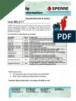 Spare Part & Maintenance Kit Sperre HL2-77
